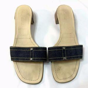 Miu Miu Slides Sandals Denim